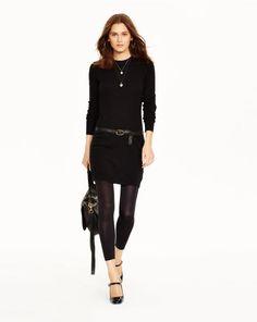 Elbow-Patch Merino Wool Dress - Polo Ralph Lauren Short Dresses - RalphLauren.com
