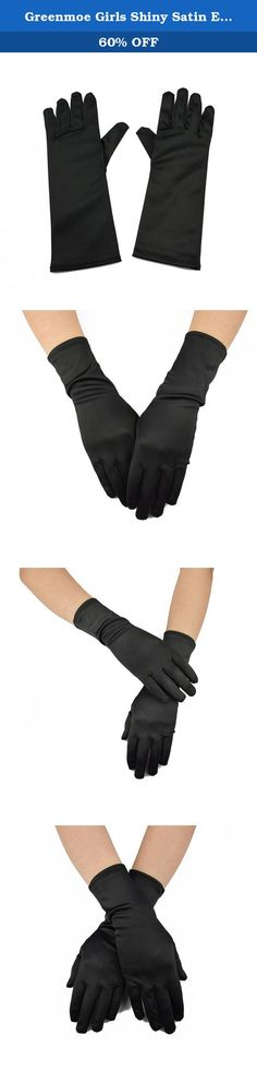 Greenmoe Girls Shiny Satin Elbow Length Gloves For Kids Dance Party (Black). Package included: 1 x Pair of Gloves Please allow 1-5 mm errors due to manual measurement. The color maybe a little difference compare the image with actual item due to monitor reflect,please understanding Thanks! Please feel free to contact us for any problems. We will reply you within 24 hours by email. .