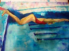 ArtDia / Plávanie III. Painting, Art, Art Background, Painting Art, Kunst, Paintings, Performing Arts, Painted Canvas, Drawings