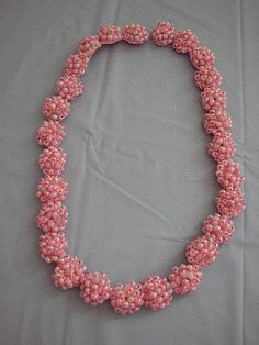 Donna's Crochet Designs Blog of Free Patterns: Pink Cluster Necklace Free Crochet Pattern