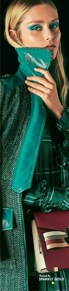 Shades Of Turquoise, Shades Of Green, Fashion Brands, Women's Fashion, Fashion Design, Vogue Models, Eye For Beauty, Couture Trends, High Fashion Looks