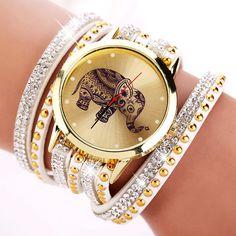 New Popular Fashion Elephant Pattern Bracelet Watches  Watch Women Dress Classical Jewelry Quartz Wristwatch XR955