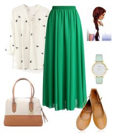 """""""Modesty"""" by gesiane-saves on Polyvore featuring moda, WithChic, Chicwish, Emilie M e Kate Spade"""