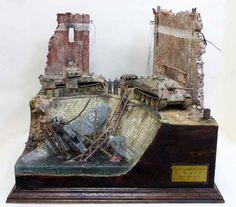 """http://www.missing-lynx.com  """"Fallen Eagle"""" Panther Diorama Tamiya, 1/48 scale by Shigeyuki Mizuno"""