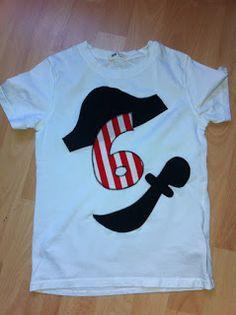Wenn das Geburtskind nichts anzuziehen hat ;-) T-Shirt zum Piratengeburtstag