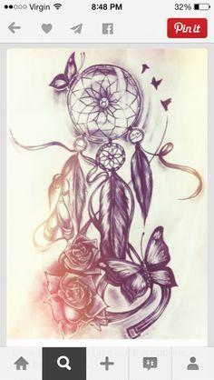 Attrape-rêve et papillon