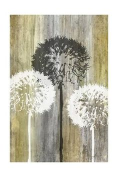 Dandelion art - Rustic Garden II Fine-Art Print by James Burghardt Canvas Artwork, Canvas Art Prints, Painting Prints, Canvas Wall Art, Fine Art Prints, Art Paintings, Canvas Canvas, Tree Wall Art, Painting Gallery