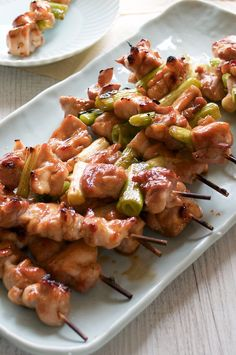Yakitori is a Japanese skewered chicken, cooked on griller with either sweet soy sauce or just salt. You don't marinate chicken!
