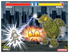 Minilla vs. Megalon