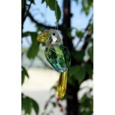 Crystal Bird - Design 6. Our Hanging Crystal Birds are 9 cm high and have approximately 24 cm long metal string.