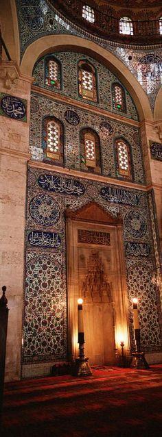 Rustem Pasha Mosque Istanbul Turkey.