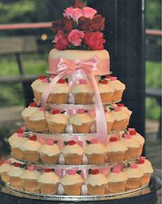 cupcake wedding cake, without the flower topper