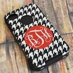 Houndstooth OtterBox monogrammed.  Love!  RTR