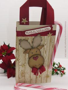 Anleitung weihnachtliche Geschenktüte