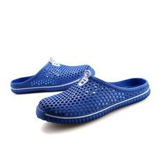 Blue Clogs Shoes With Holes