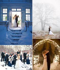 sweet winter wedding photography