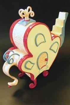 Whohouse Teapot by cbeadleston on Etsy, $75.00
