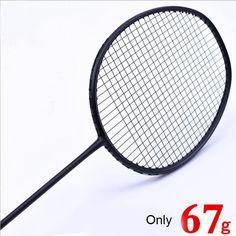 1 PC ZARSIA 7U 67g G6 ULTRA LIGHT black Badminton racket, Badminton Racket quality carbon racket 28LBS #Affiliate
