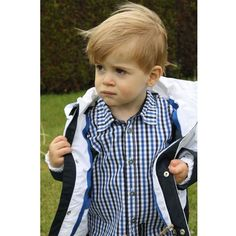 Timberland Kids Little Boys Blue Checked Shirt (€15) ❤ liked on Polyvore featuring babies, children, kids, people and little boys