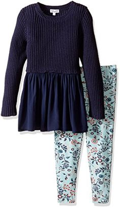 Splendid Little Girls Toddler Sweater with Print Legging Navy 3T -- For more information, visit image link.Note:It is affiliate link to Amazon.
