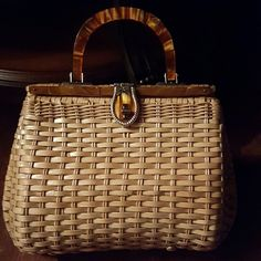 HOST PICK Vintage wicker handbag Dates from the 1950s. Side handle and clasp. Made in British Hong Kong. Mint vintage bag. Reasonable offers will be accepted. Bags
