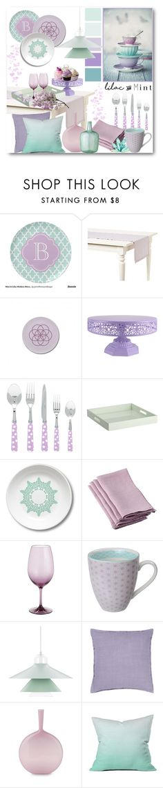 """""""Kitchen Color Challenge: Lilac & Mint"""" by brendariley-1 ❤ liked on Polyvore featuring interior, interiors, interior design, home, home decor, interior decorating, Aroma, CB2, Pier 1 Imports and Tokyo Design Studio"""