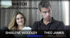 Shailene Woodley and Theo James interview with MoviesDotCom for Divergent
