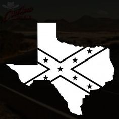 Texas Confederate Flag Decal - $1.99 with free shipping!