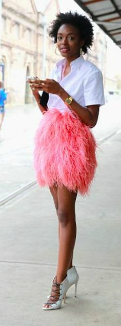 Pink!!!! Feathers!!!!!