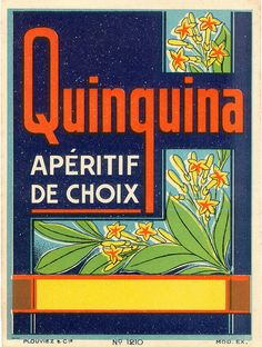 French drink label 'QUINQUINA'