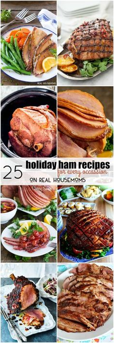 Gather your family around the table and get ready to dig into these 25 #HOLIDAY #HAMRECIPES FOR EVERY OCCASION! #Christmas #Realhousemoms