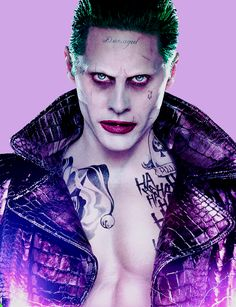 The Joker...I can only hope that I find this man so attractive because I subconsciously know it's my lifelong love Jared Leto underneath because I'm not sure I want to know what it says about females who find this appealing.