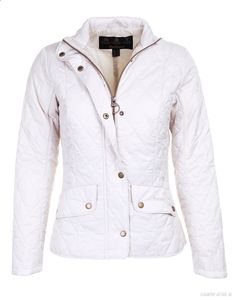 Barbour Womens Flyweight Cavalry Jacket – Pearl/Stone LQU0228ST31