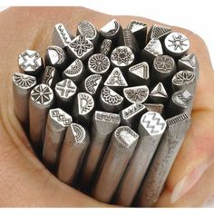 Traditional Design Metal Stamps for Jewelry-Complete Set of 38 Punches