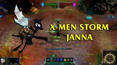 X-Men Storm Janna LoL Custom Skin ShowCase