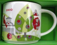 Starbucks City Mug You Are Here in Ohio