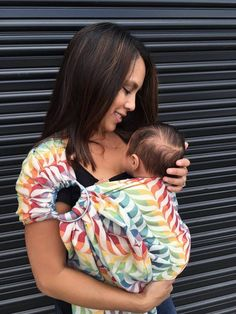 Fashion meets function with the new Tula wrap conversion ring sling in colorful Migaloo Happy <3