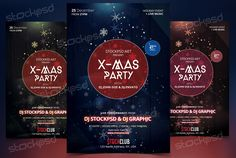 X-Mas Party 2017 - Download Free PSD Flyer Template - Stockpsd.net
