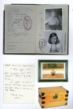 """Diana passport and letter , etc  Taken from the book """"Diana The Portrait"""" by Harper Collins Publishers"""