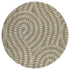 Patterned wool rug handmade in India.