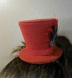 Mini hat on a headband tutorial