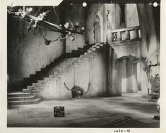 """""""The Wicked Witches Castle""""  Set design stills from The Wizard of Oz. (M-G-M, 1939). Cedric Gibbons."""