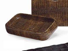Lavabo sobre encimera rectangular de cerámica DUNDEE Colección Jungle by Ceramica Cielo