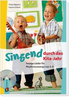 Singend durch das Kita-Jahr – Fetzige Lieder für Rhytmuszwerge von 3–6 ++Die #Lieder dieses Buches begleiten Sie und Ihre #Kinder durch das ganze Jahr! Auf der dazugehörigen Audio-CD finden Sie sowohl alle Lieder als auch die Playback-Versionen. Mit ungewohnten und teils rockigen Tonarten möchte dieses Buch die Kinder öffnen für ungewohnte Klänge. Mit kreativen Ideen zur Förderung der #Stimmbildung, zum Einstudieren der Liedtexte und zum #Tanzen und Bewegen. #Kita