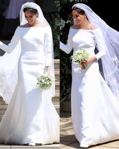 The Duchess of Sussex's wedding dress. Meghan looked radiant in a dress by British designer Clare Waight Keller for Givenchy that displayed…