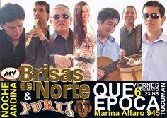 #EstaNoche en Tucuman Brisas Del Norte & Purij en Que Época +Info: http://www.acvfolclore.com.ar/index.php/11-noticias/582-brisas-del-norte-llega-a-tucuman-en-la-noche-andina-de-que-epoca