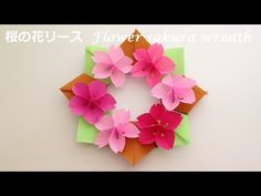 How to make a paper 3d flower origami ttutorial easy but looks spring flower wreath cherry mightylinksfo