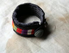 Almond and Rose a Fiber Art Cuff in Bedouin by LaTouchables