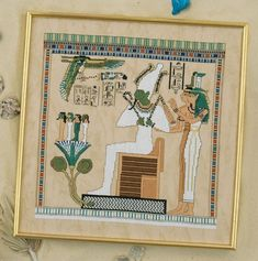 cross stitch egyptian patterns   Osiris and Sisters - Egyptian - Cross Stitch - Designs