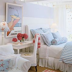 Soothing Beachy Bedrooms | Twist on Tradition | CoastalLiving.com